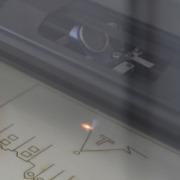 Der Laser bei der Arbeit